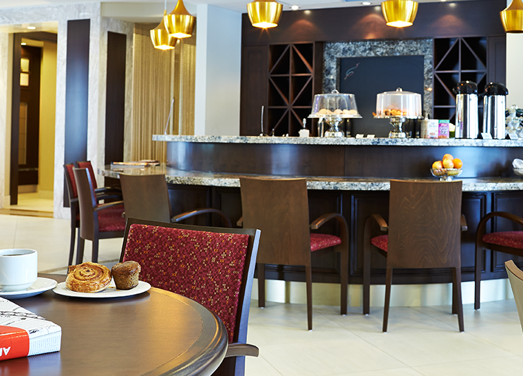 Bistro lounge at Amica Unionville senior living residence. Size: 760x546