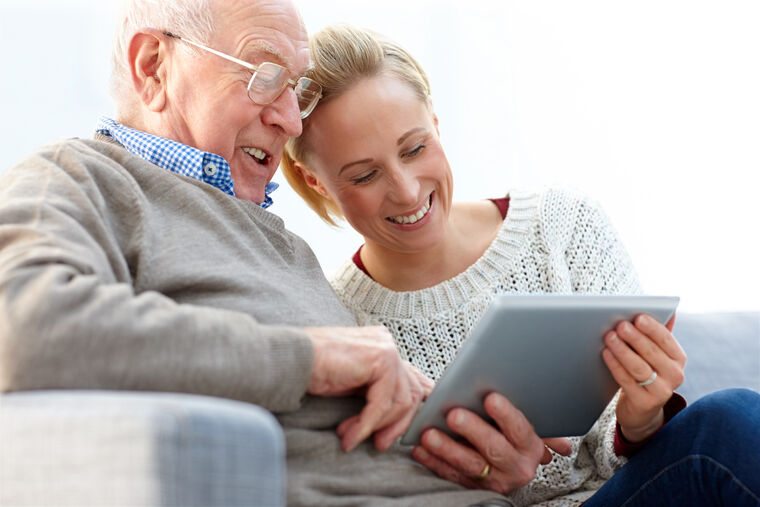 Image for Conversations Article Encourage parents consider senior living. Senior living at Amica.
