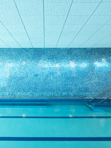Indoor swimming pool at Amica Westboro Park senior living residence.