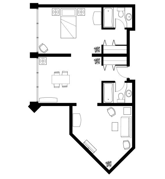 One bedroom plus den