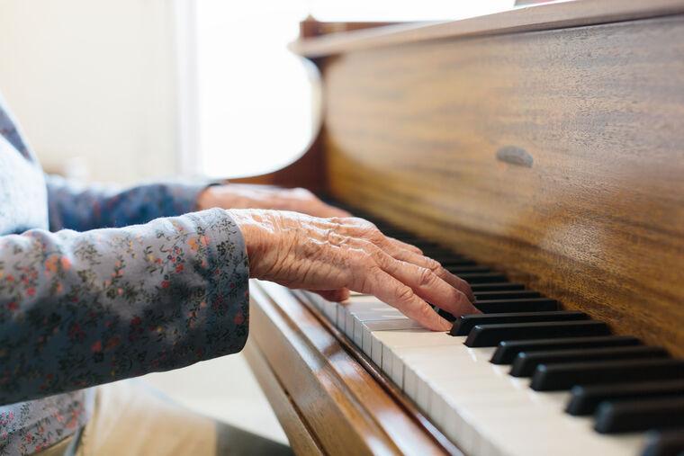 Grand piano at Amica Beechwood Village senior living residence.