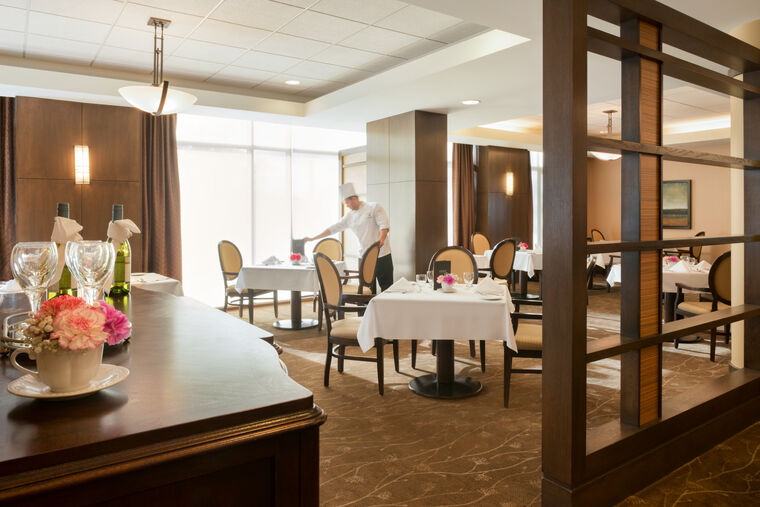 Dining area at Amica Westboro Park senior retirement residence.