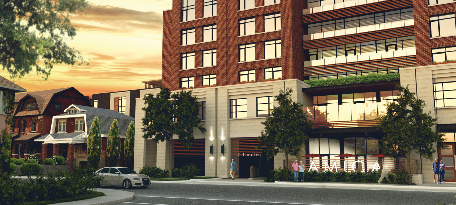 Amica Glebe building rendering | premium senior living in Ottawa