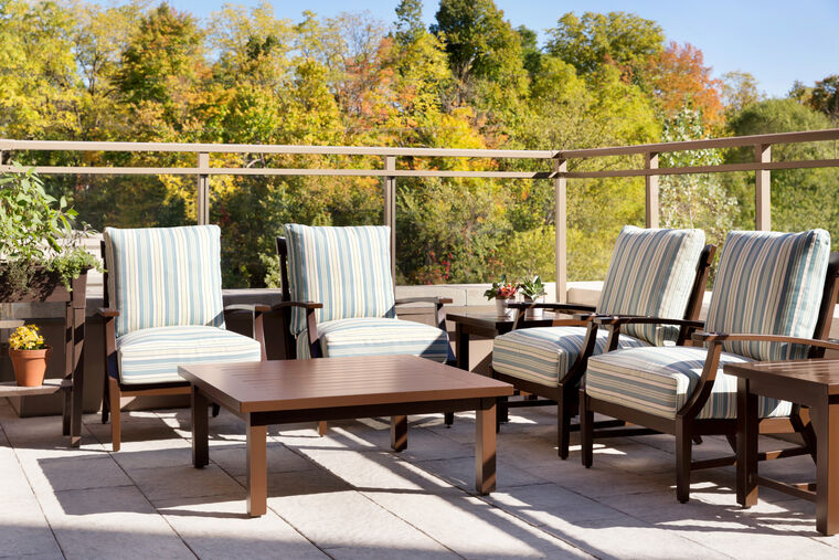 Terrace on the Memory Care floor at Amica Georgetown