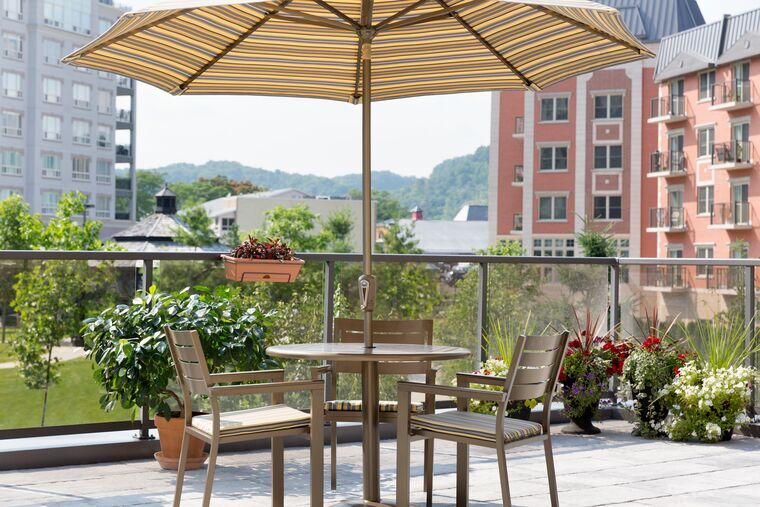 Seats on the Rooftop Terrace at Amica Dundas