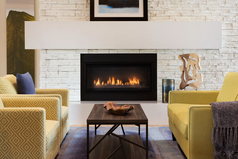 Fireside lobby at Amice Edgemont Village