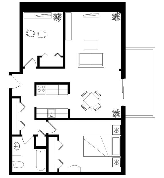 Douglas_House_IL_OneBed+Den