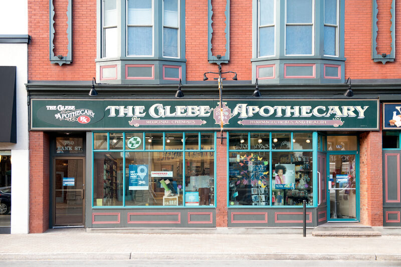 The Glebe Apothecary exterior in The Glebe neighbourhood.