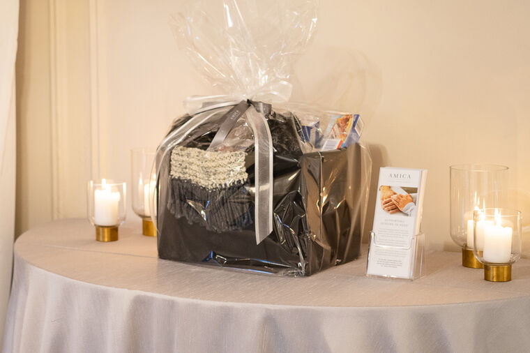 An Amica Helping Hands Charity Basket for auction at the 2019 Helping Hands Gala
