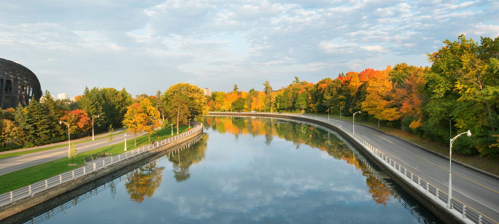 Riverside path in Ottawa's Glebe Neighbourhood