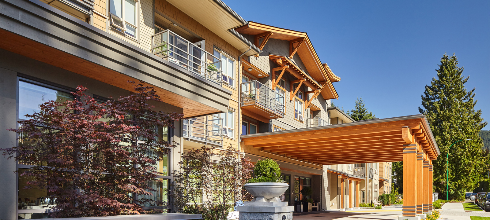 Exterior view of Amica Edgemont senior retirement residence.