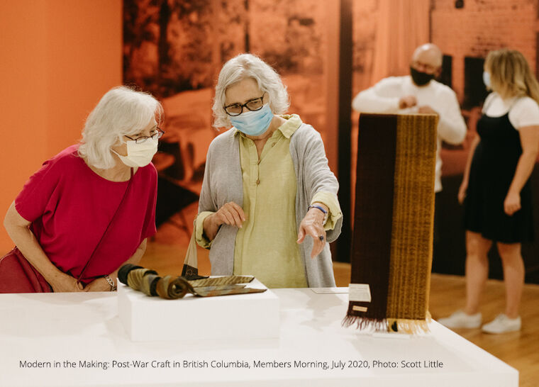 Image Credit: Modern in the Making: Post-War Craft in British Columbia, Members Morning, July 2020, Photo: Scott Little