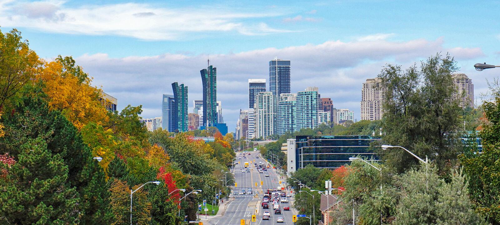 Toronto, Panoramic View of city of North York